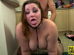 Fat dominated babe banged