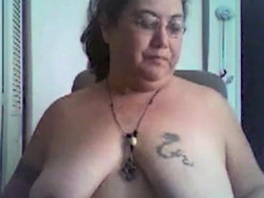 BBW ecstatic dildo play