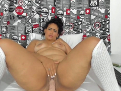 Take charge BBW MILF About Stockings Uses Some Toys