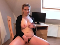 Busty girlfriend puts on a nonconforming just show