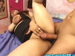 BBW Girl Slut Sucks and Fucks a Meaty Cock